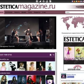 Esteticamagazine.ru, up and running