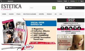 Estetica eCommerce. The new portal for magazine subscriptions