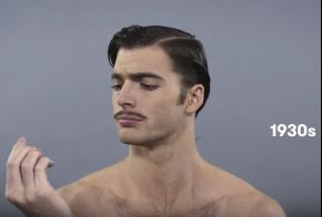 Video Alert! Watch 100 years of men's grooming in less than 2 minutes