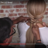 Video Alert! The JLO Braid How-To: Fishtail Braid Updo by Sam Villa