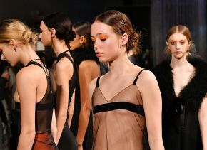 Get the Look! NYFW Katie Gallagher's Double Suebian Knot by Joseph Di Maggio for Davines