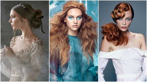 Artistic Direction & Hair: Sharon Blain  Photos: Milos Mlynarik  Hair Assistants: Luby Tafe, Petr Vackar, Kerry Arvidson, Sophie Clark  Make-up: Chereine Waddell | Styling: Amber Leigh, Madelaine Caldwell, Breeanna Wardrop, Valeria Sanchez, Hannah Bailey Headpieces: Stephanie Browne