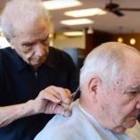 Meet Anthony Mancinelli, probably the Oldest Barber in the World