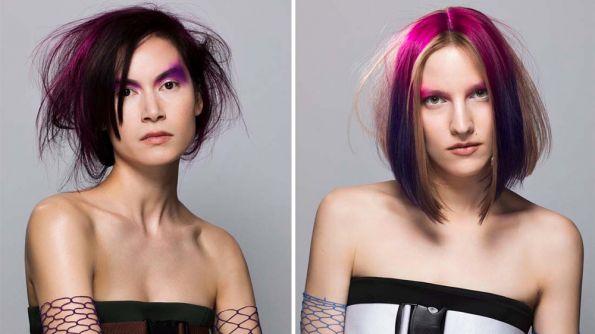 Hair: The Sassoon International Creative Team led by Mark Hayes /Make-up: Daniel Kolaric /Stylist: Mathilde Dutheil/Photos: Ray Kesham
