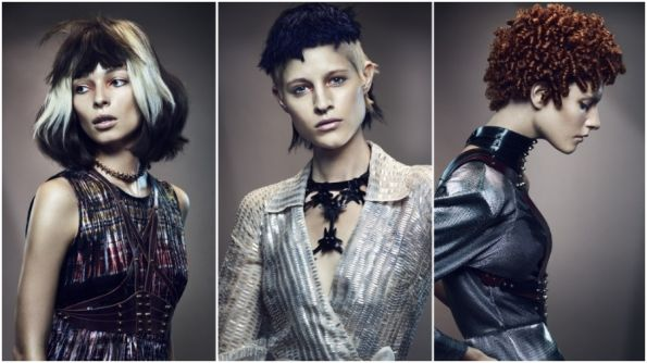 Hair: Cos Sakkas, TONI&GUY, London Makeup: Lan Nguyen-Grealis Styling: Sara Dunn Photo: Jack Eames