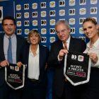 Luigi de Siervo, amministratore delegato di infront italy; Avv. Giulia Bongiorno;Maurizio Beretta,Presidente della lega serie;Michelle Hunziker