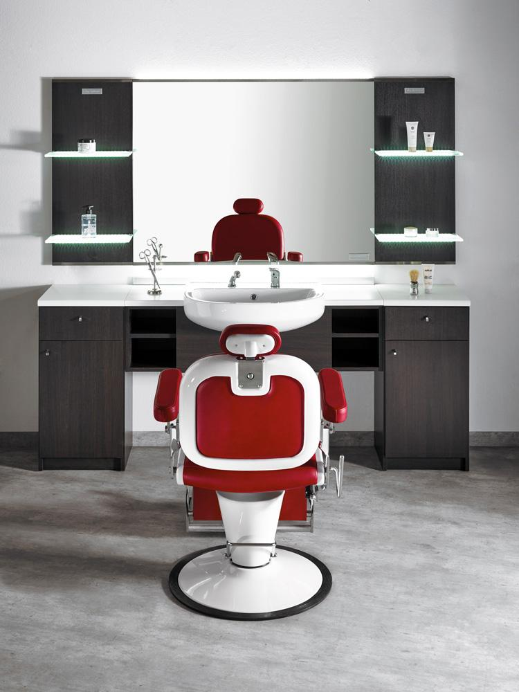 Poltrona maschile premier for Arredamento barber shop