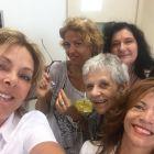 da sinistra Flavia Corda, Francesca Piccioni, Elisabetta Atzeni(socia onoraria sdr), Maria Conte e Maria Grazia Caligaris (presidente sdr)
